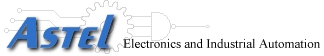 logo Astel electronics and industrial automation